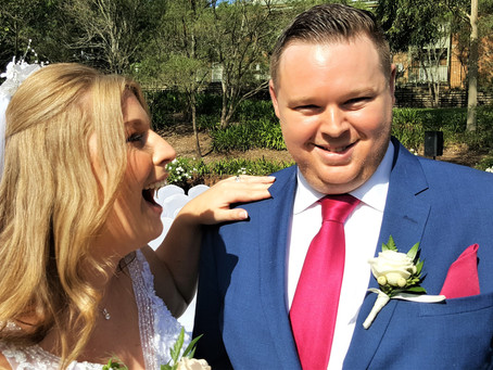 Courtney and Brett enjoyed a great Special Day at Crowne Plaza, Hawkesbury Valley on 21st March