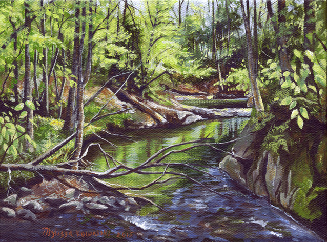 "Early Spring on Stevensville Brook"" SOLD"
