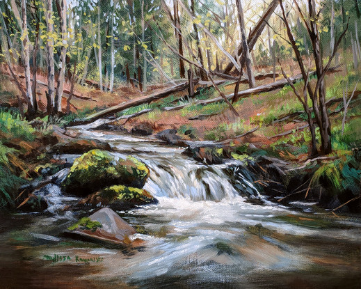 """""""Early Spring on Polly Brook"""" $350.00 8""""X10"""""""