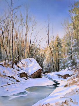"""SOLD """"Slow Heartbeat of a Deep Winter's Sleep"""" SOLD"""