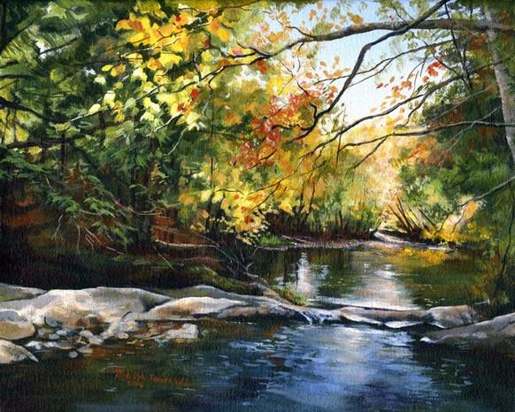 """SOLD """"Fall on Stevensville Brook"""" SOLD"""