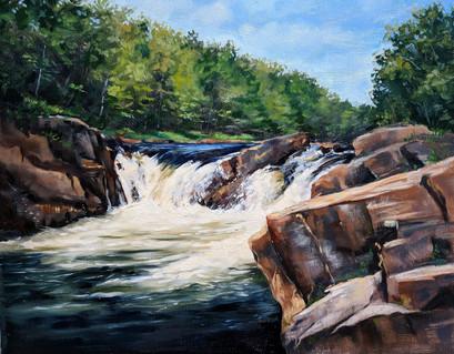 """Falls on West Canada Creek "" $700 Nobleboro NY. 11X14"
