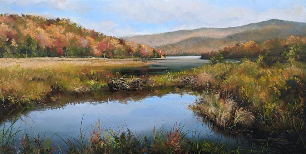 SOLD - Autumn on Belvidere Pond
