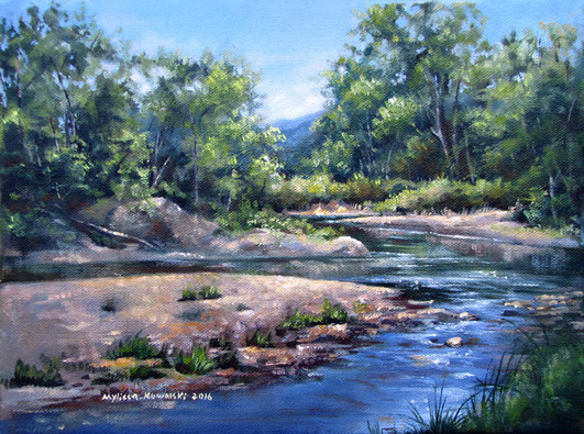 """SOLD """"Early Summer on Mad River"""""""