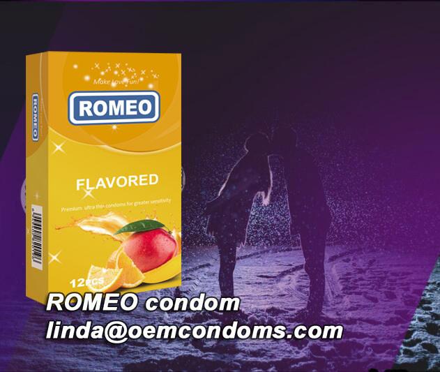 Flavored condom manufacturer, ROMEO brand condoms supplier