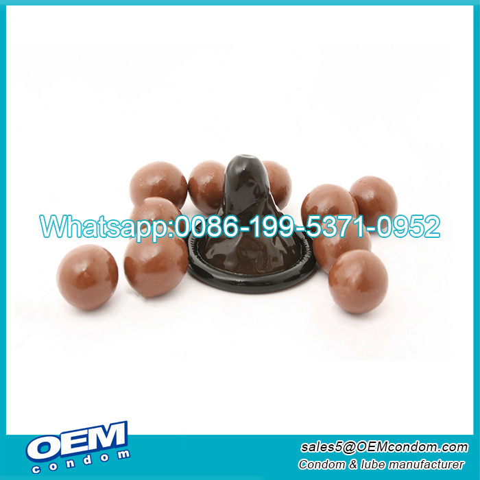 Custom flavored condoms for men logo