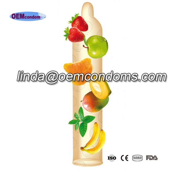 Flavored condom, OEM flavored condom manufacturer