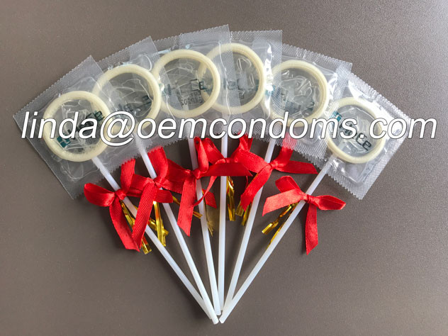 Novelty condom, lollipop condom manufacturer, special gift for fun