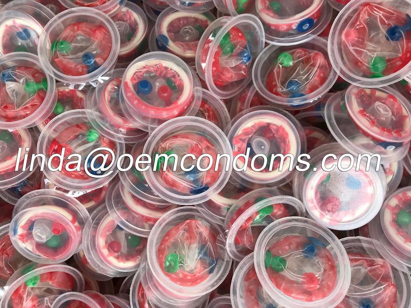 blister pack spike condom, buttercup condom manufacturer, spike condom supplier
