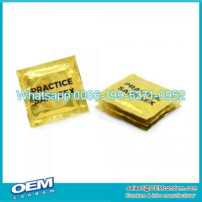 condom wrapper gold foil condom gold condom