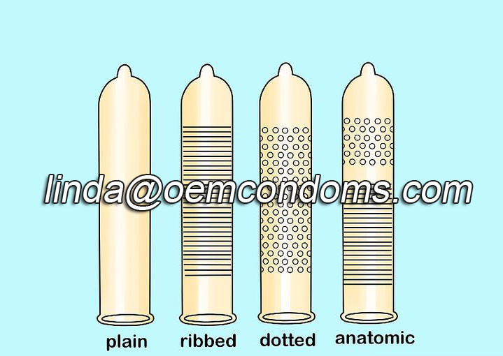 different variety of condoms