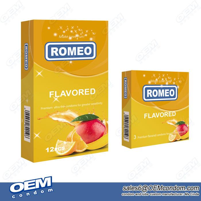 flavored condom supplier, ROMEO brand condom manufacturer