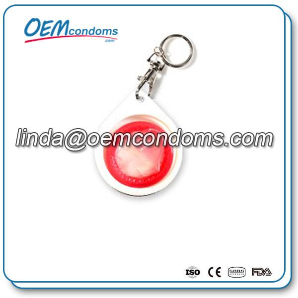 condom keyring, keychain condom manufacturer, condom buttercup keyring suppliers