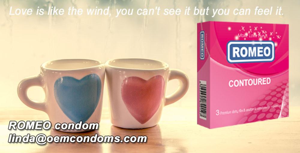 ROMEO brand condom, contoured condom supplier, best brand condom manufacturer
