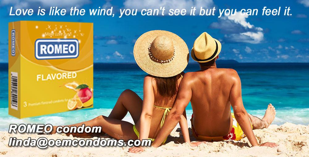 ROMEO flavored condom for funny moment.