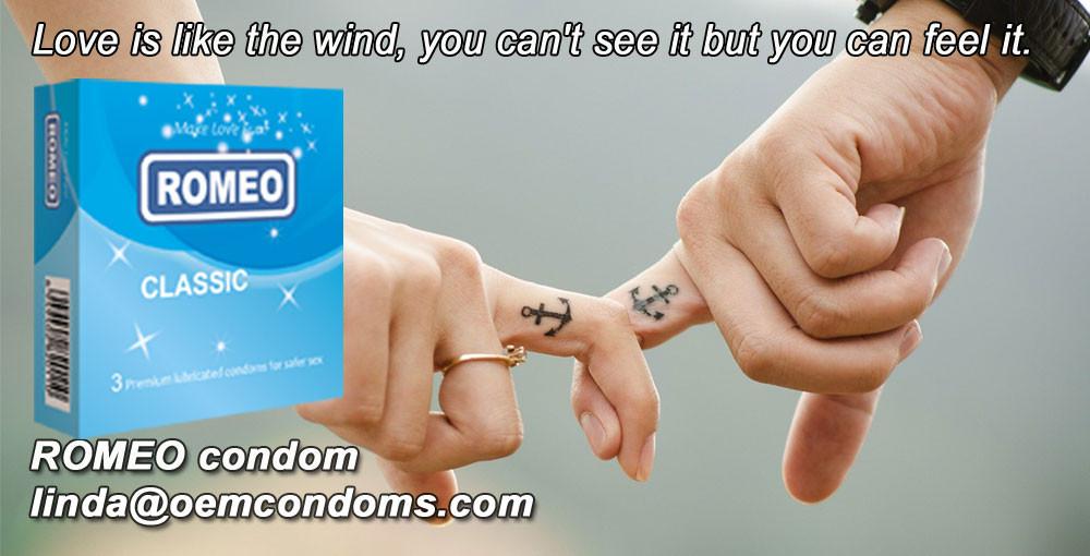 ROMEO classic condom, ROMEO brand condom, custom condom factory