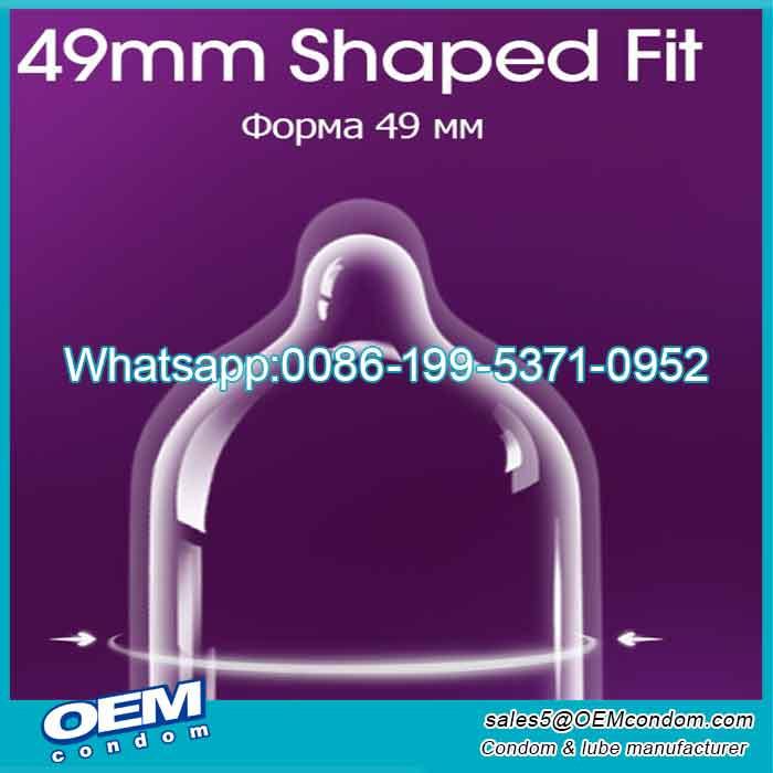 Custom 49mm width small size condom for men