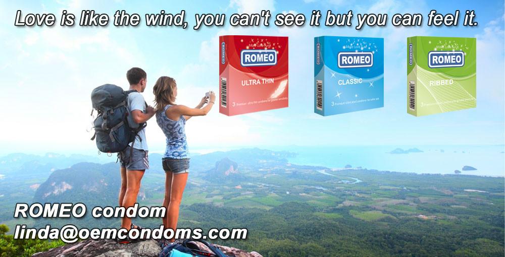 ROMEO condom, ROMEO brand condom manufacturer, types of condom supplier