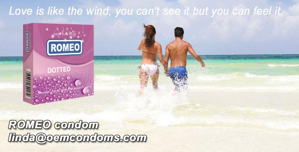 ROMEO condom, ROMEO brand condom, studded condom manufacturer