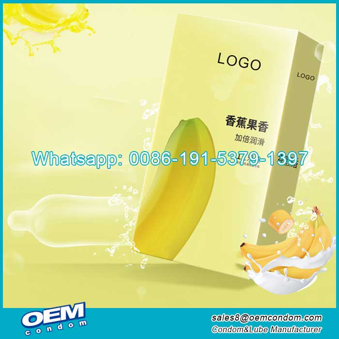 Banana Flavored Condoms Supplier With Private Logo