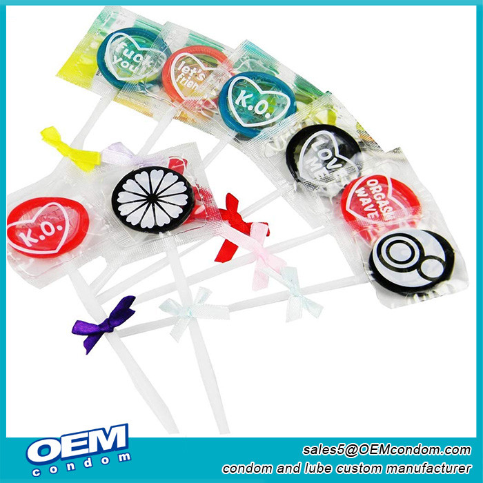 Custom Private Label condom lollipops