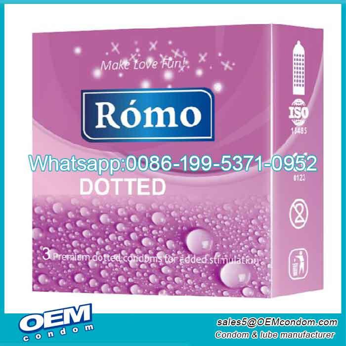 Custom super dotted condoms for men