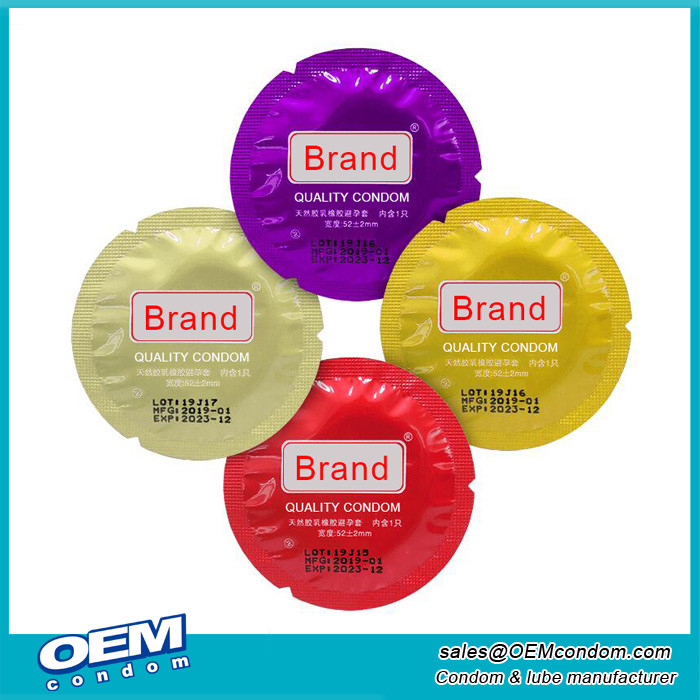 Circular Round Foil Wrapper Condom Manufacturer