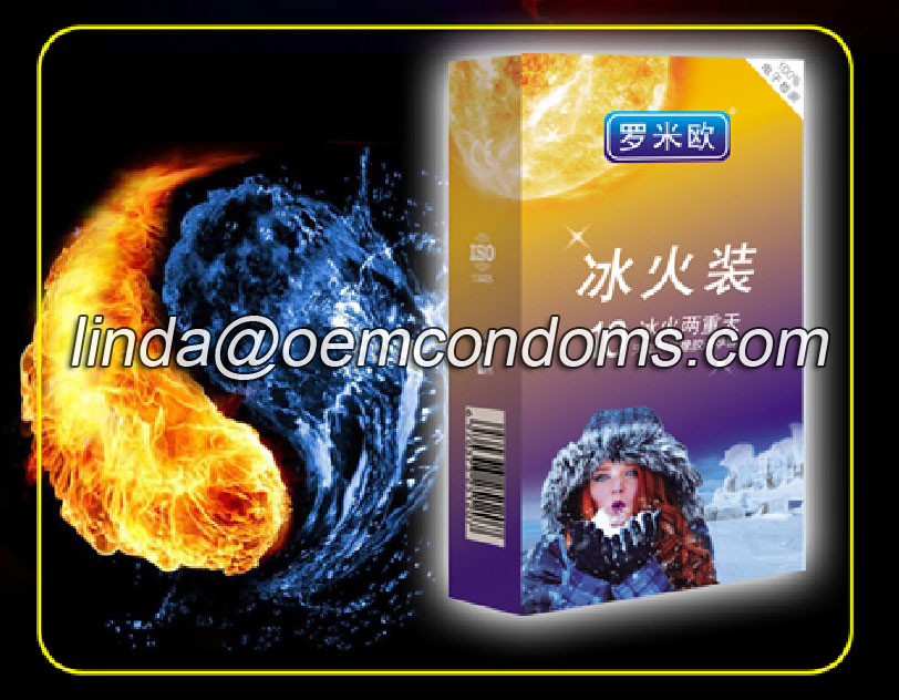 Warming and cooling condom manufacturer