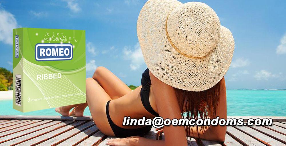 ROMEO brand condom, ROME ribbed condom, condom supplier, custom brand condom
