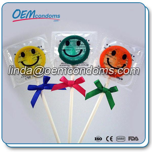 promotional conodm, lollipop condom for Christmas, novelty condom manufacturer
