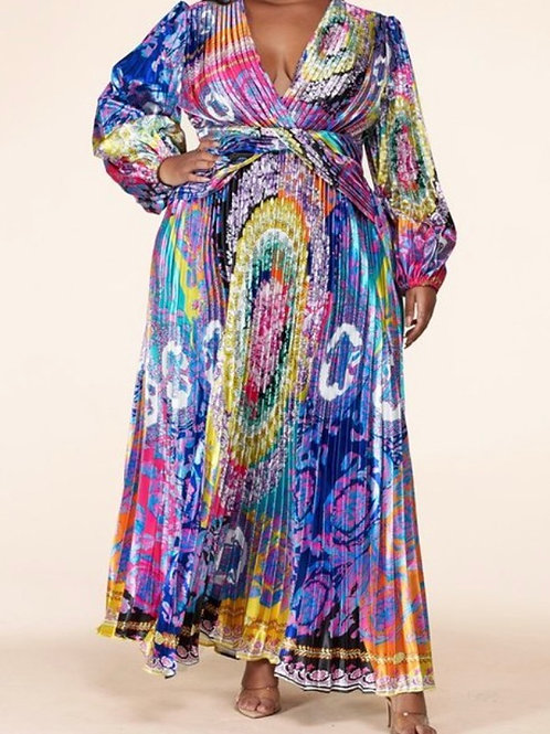 Colorful Wonderland Boho Print Maxi Dress