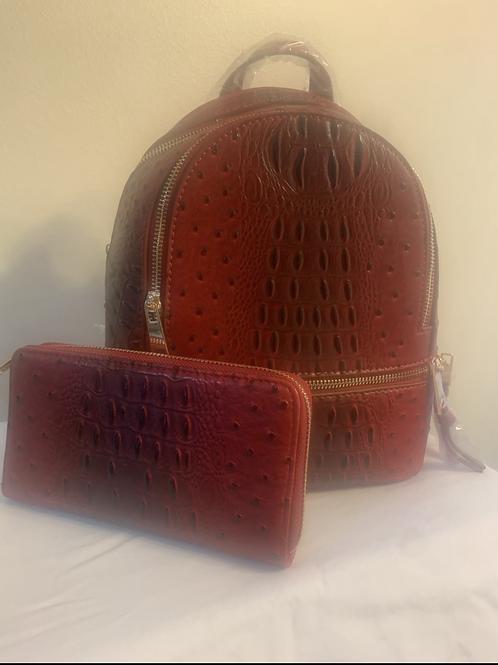 Backpacks:  Violet Red, Purple, Mustard