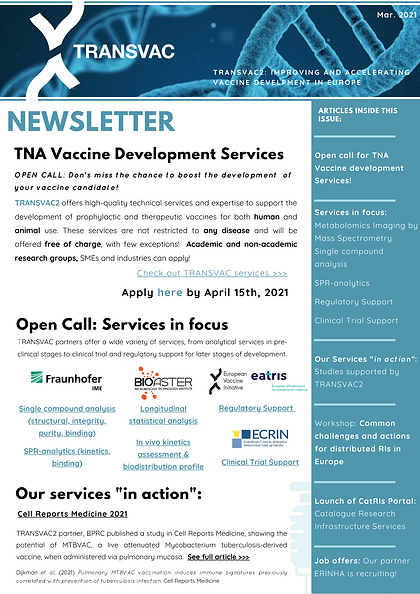 TRANSVAC2 TNA2102-11_Newsletter March 20