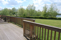 Decking area over looking The Lakes
