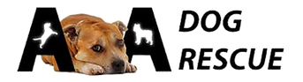 AA Dog Rescue Logo with AA Dog Rescue Dog