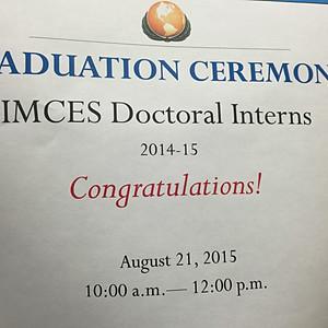 Doctoral Interns Graduation Ceremony 2014-2015