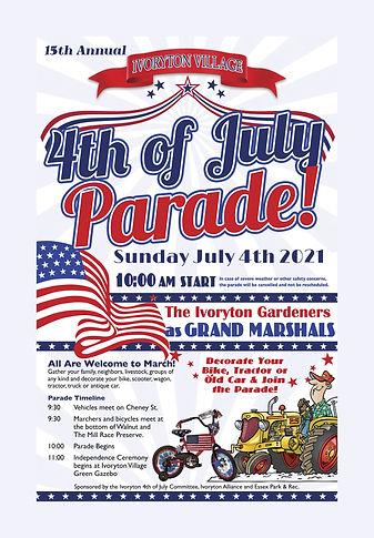vp2021Ivoryton 4th of July Poster 11 x 1