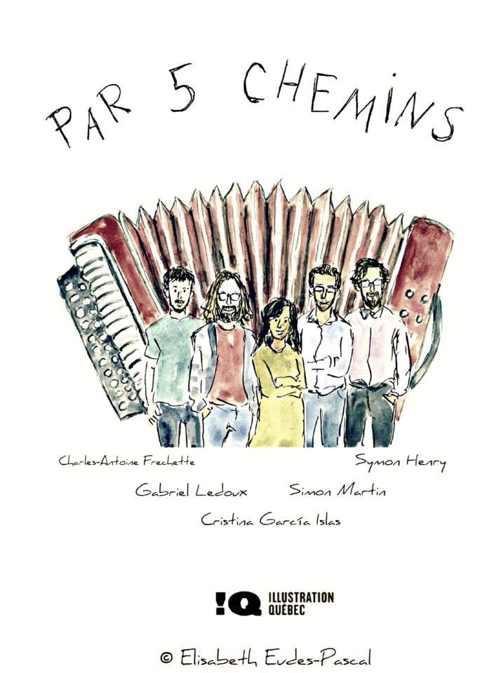 Par cinq chemins, concert pour accordéon