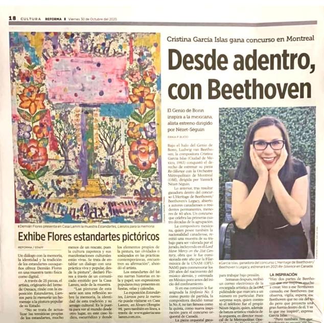 Desde adentro con Beethoven, El Reforma