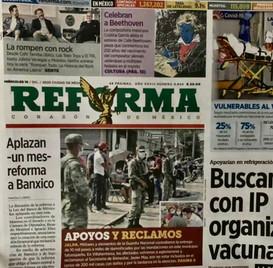 Portada El Reforma 16 Diciembre 2020