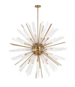 The Quorra 41-Light Burnished Brass Chandelier is a stunner at 48 inches in diameter; just don't try and install it without professional electrical help!