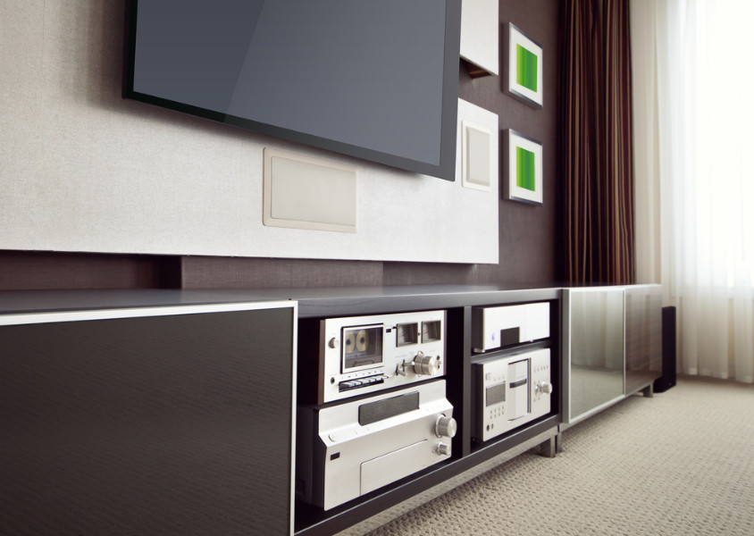 Expensive home electronics that can be protected by whole-home surge protection.