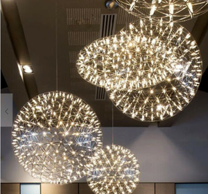 The Moooi Raimond R43 Suspended Lamp looks like frozen fireworks. Ask your electrician to install them in a group for this effect.