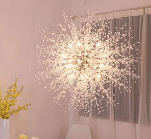The GDNS Fireworks Chandelier is a burst of crystal, stainless steel, and LED bulbs.