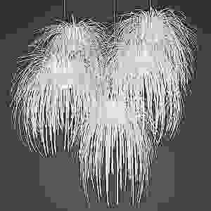"""The Arturo Alvarez """"Tina"""" Pendant looks like frozen fireworks. Make sure you hire a licensed electrician to install such a complicated fixture."""