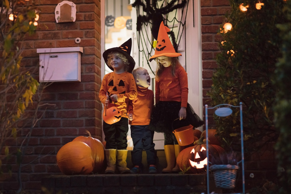 Children trick-or-treating. Flickering lights are great at Halloween, but might be something scary if they flicker year round.