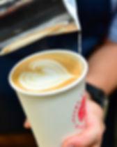 Wedding latte art on paper cups.JPG