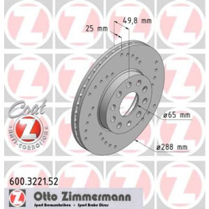 Dischi anteriori Scirocco 2.0Tdi 288x25mm