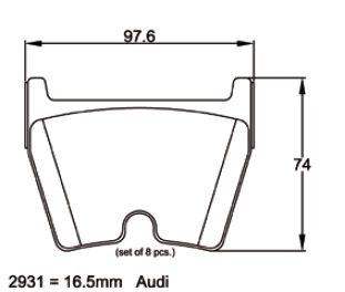 Pagid Racing 2931 - Audi RS4/RS6/R8+Gallardo
