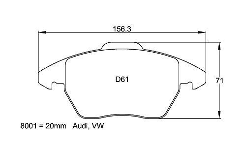 Pagid Racing 8001 - Audi TT/VW Golf Gti